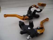 Master cylinder and clutch set with CNC levers short copper colour alloy levers